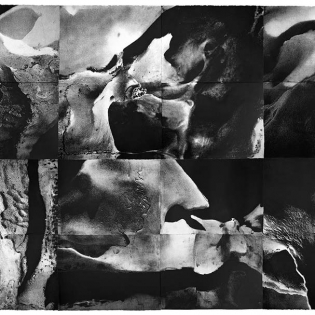 URLANDSCHAFT, etching on paper, 516 x 256cmImages of the inside of the human skull