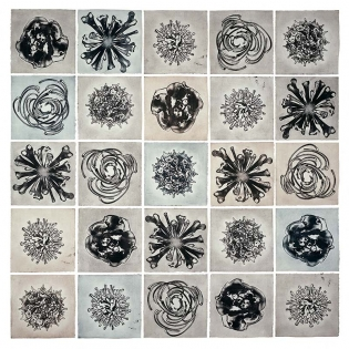 MICROCOSMOS, etching on paper, installation, dimensions variable