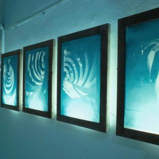 STATIONEN, silkscreen frames, 41 x 54 x 7cm