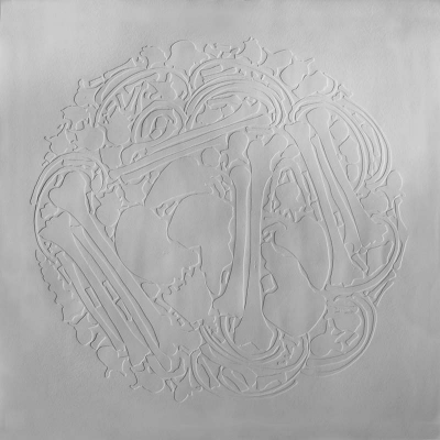 BODYPRINT, blind embossed etching on paper, 85 x 85cm