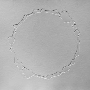 FOOTPRINT circle, blind embossed etching on paper, 50 x 50cm
